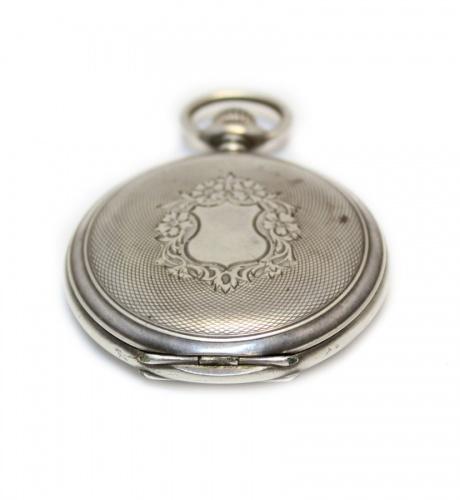 Часы карманные «Longines» (2 крышки, без стекла, серебро 84 пробы), 8 см