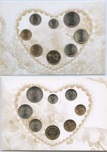 Набор монет (годовой, сжетоном) 2008 года СПМД (Россия)