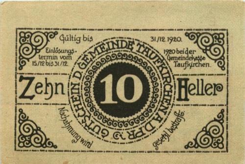 10 геллеров 1920 года (Австрия)
