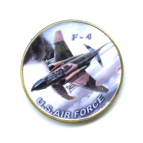 Жетон «U.S. Air Force - F-4» (вцвете, под золото)