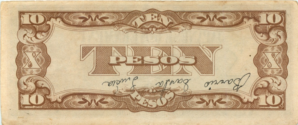 10 песо (оккупация Филиппин) (Япония)