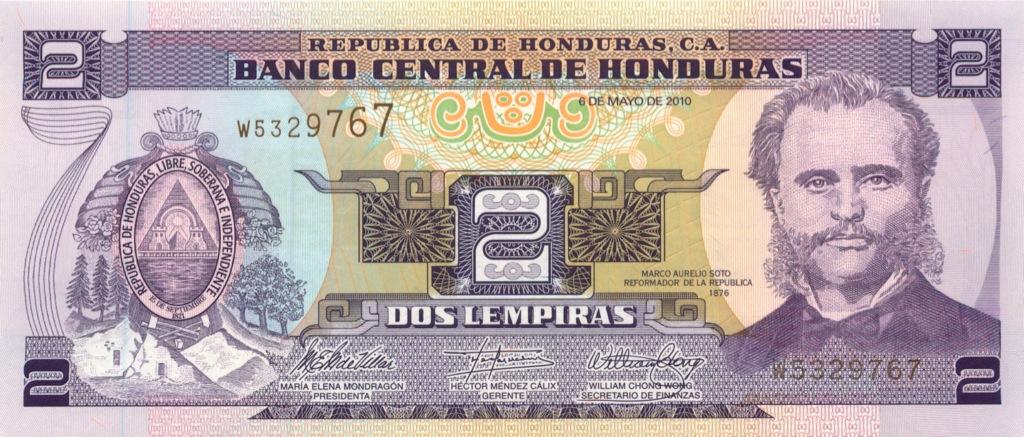 2 лемпиры (Гондурас) 2010 года