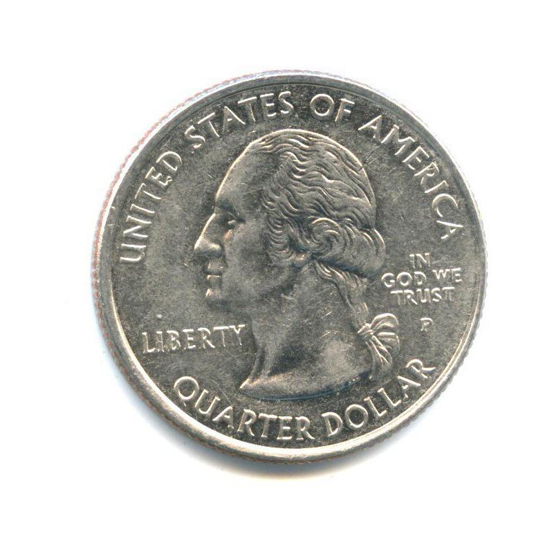 25 центов (квотер) — Квотер штата Вирджиния 2000 года P (США)