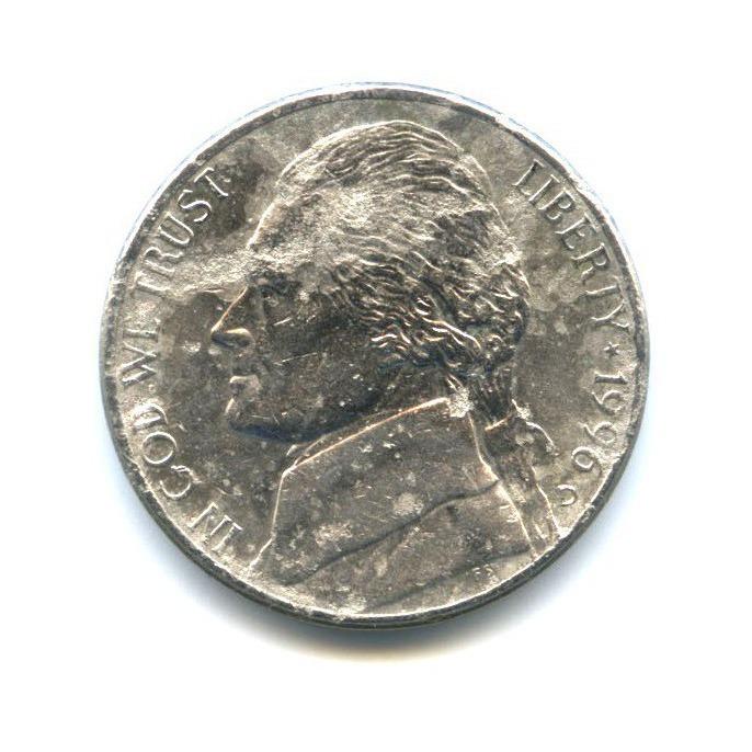 5 центов 1996 года D (США)