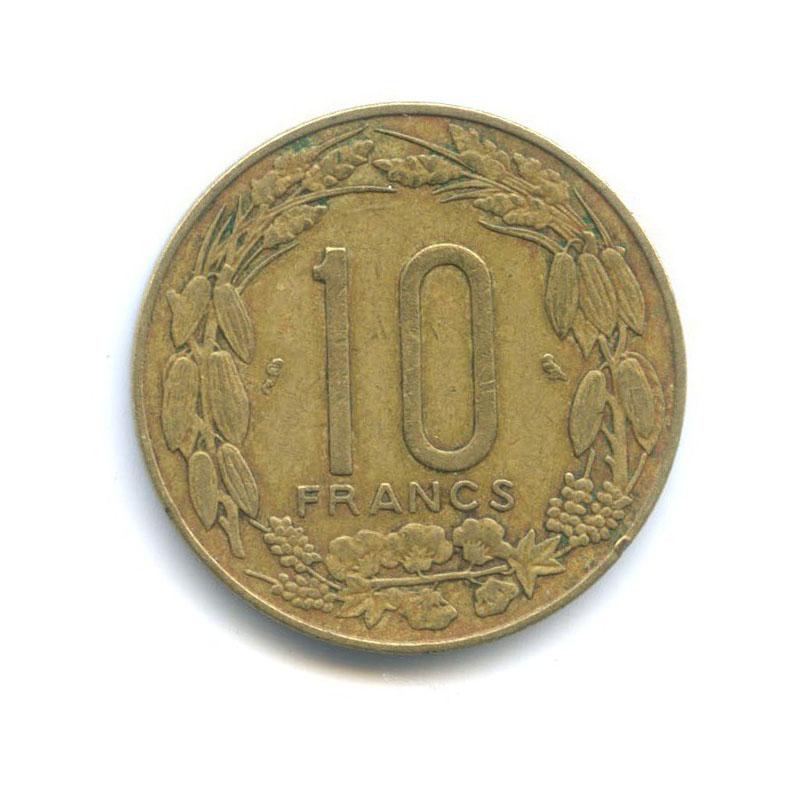 10 франков (Экваториальная Африка, Камерун) 1965 года