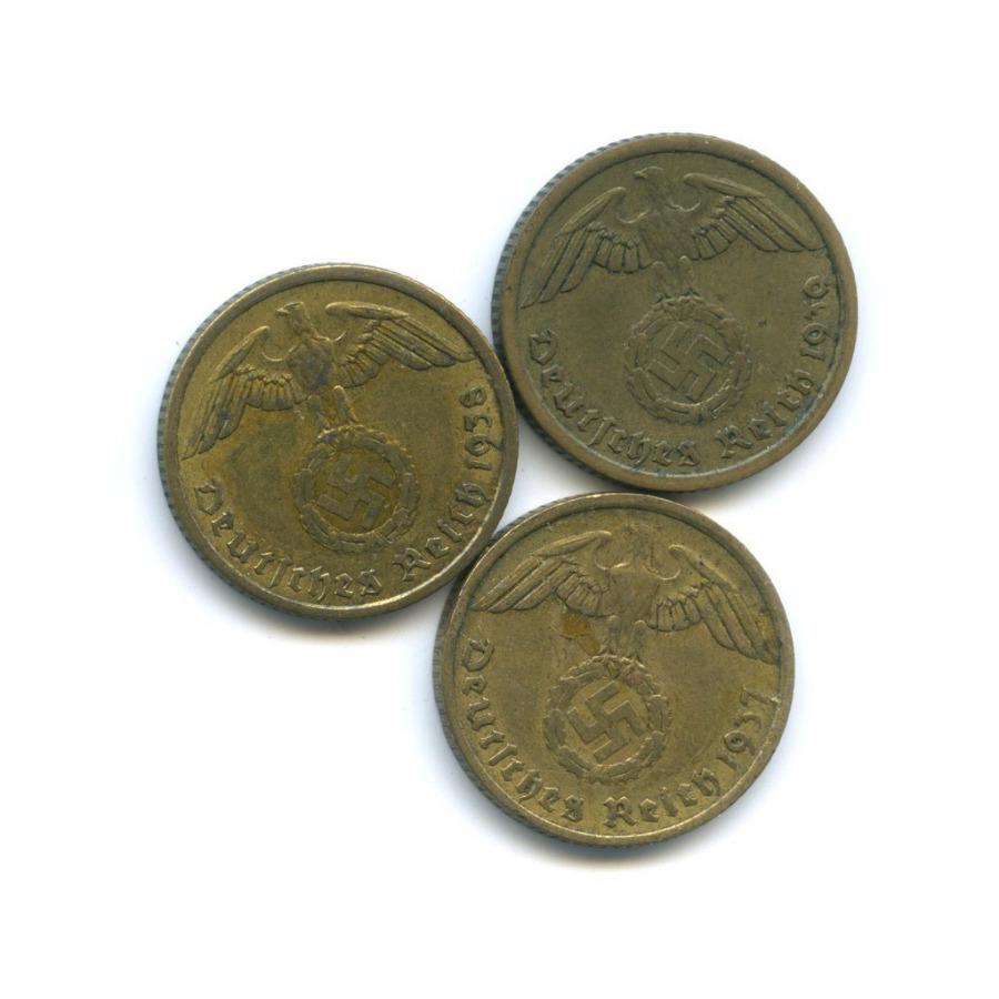 Набор монет 10 рейхспфеннигов 1937-1939 А (Германия (Третий рейх))