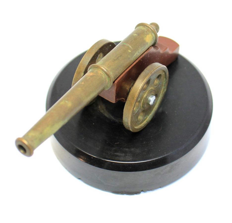 Пушка сувенирная, латунь (6×9,5 см) (СССР)
