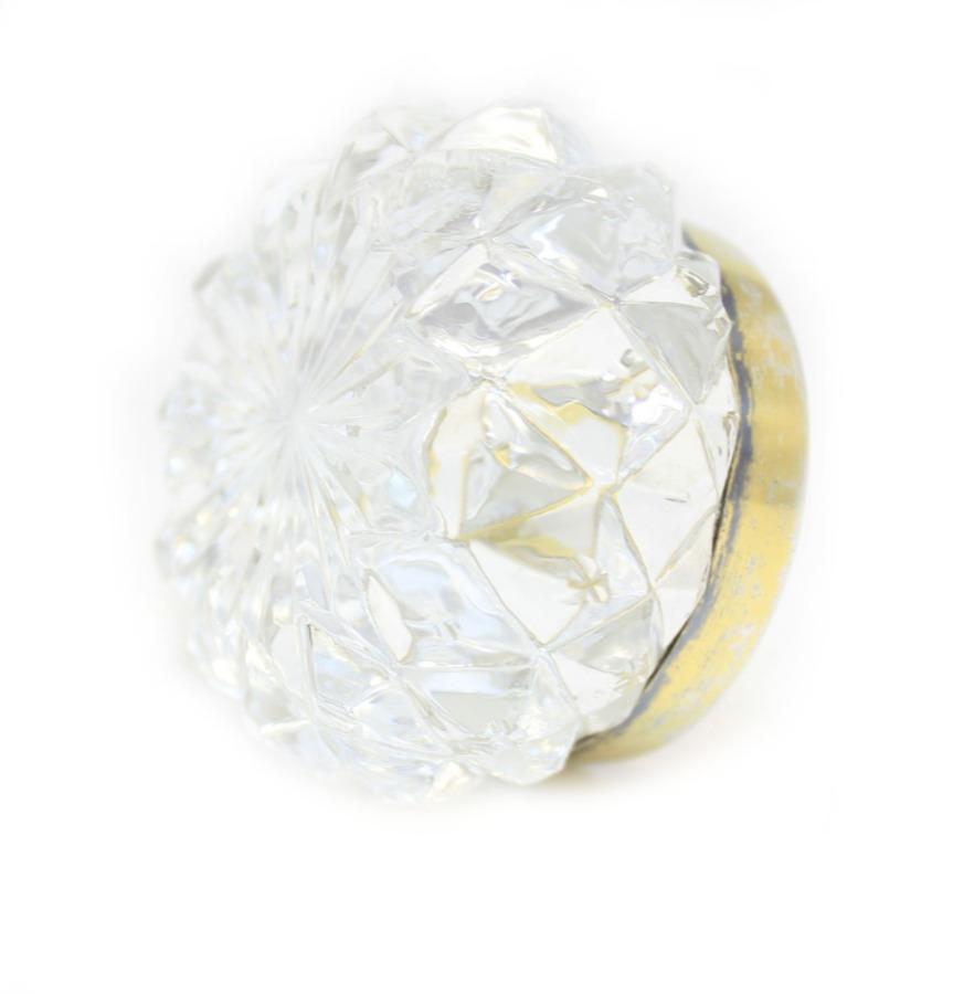 Солонка, хрусталь, серебро 875 проба (3,5×6 см) (СССР)