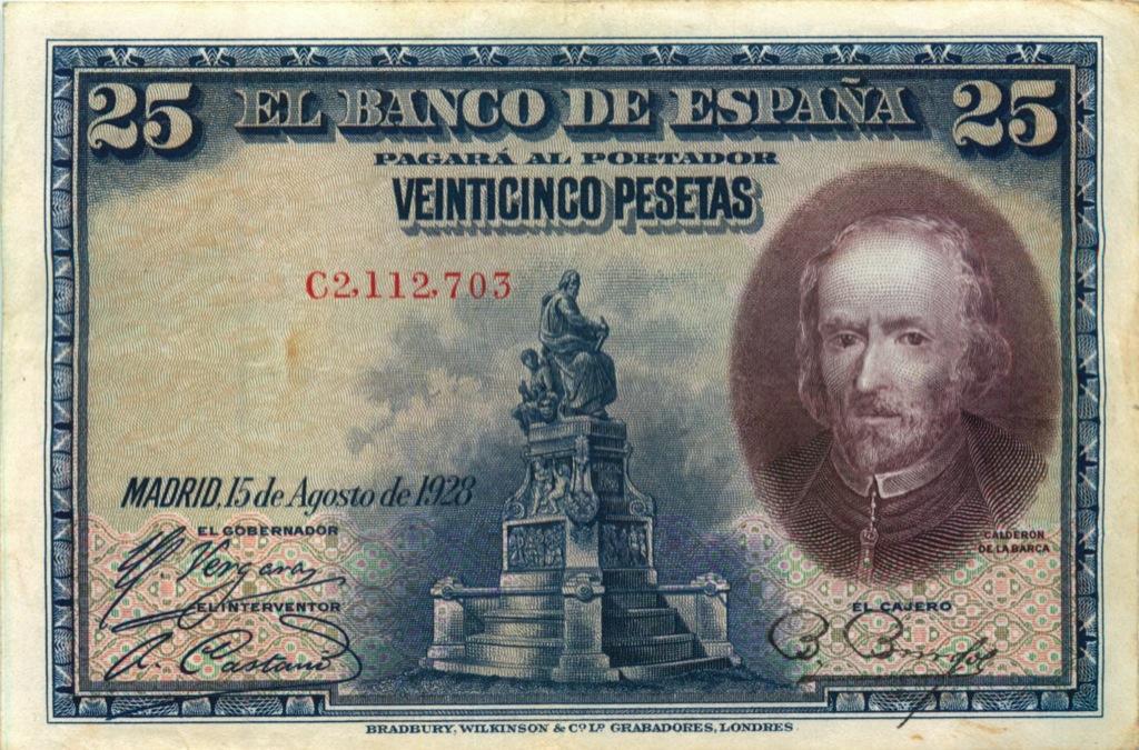 25 песет 1928 года (Испания)