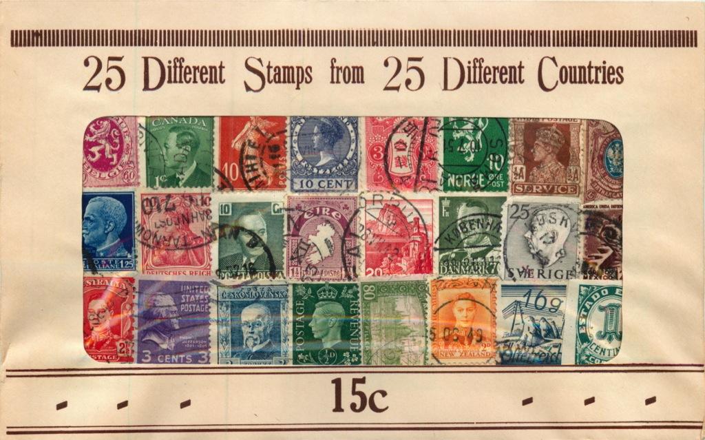 Набор марок вконверте (разные страны)