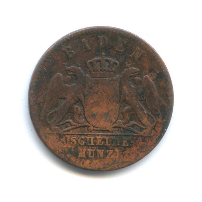1 крейцер, Баден 1860 года