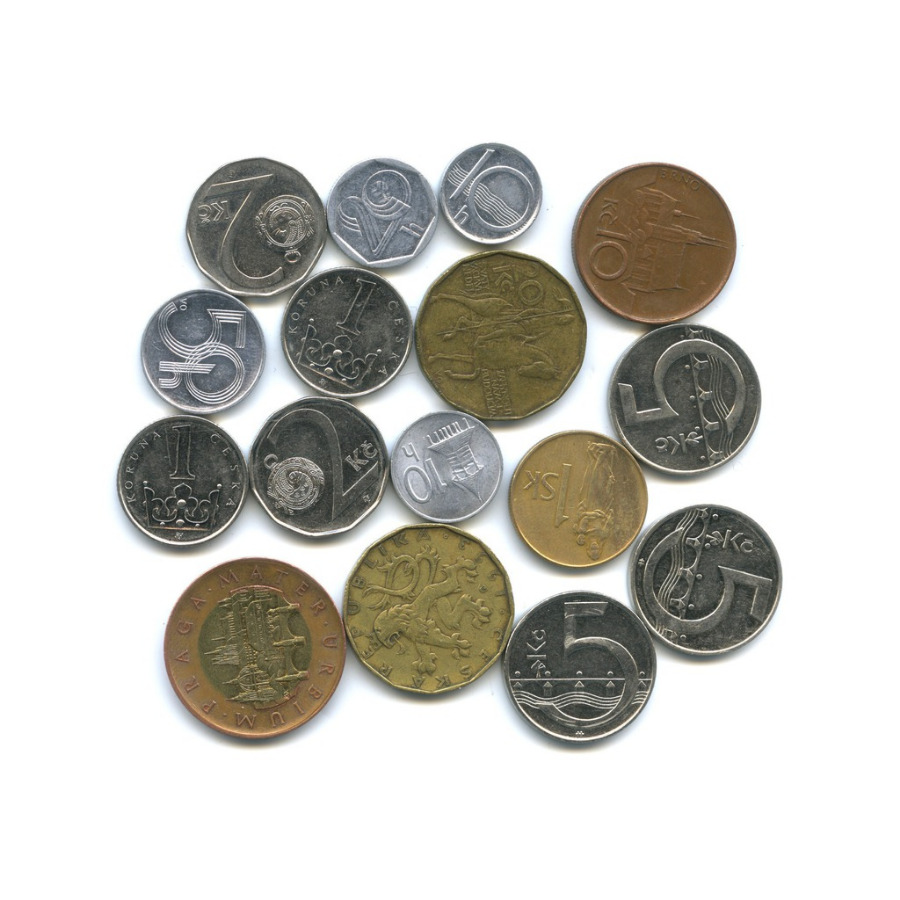Набор монет (Словакия, Чехия)