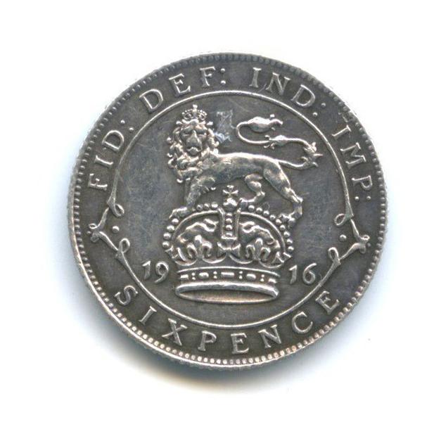 6 пенсов 1916 года (Великобритания)