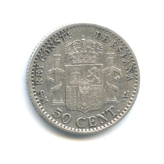 50 сентимо - Альфонс XIII 1904 года (Испания)