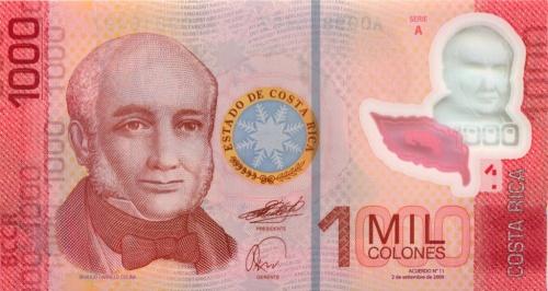 1000 колонов 2009 года (Коста-Рика)
