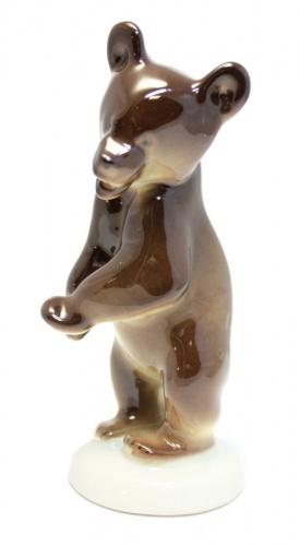 Фигурка «Медведь», ЛФЗ, 14,5 см (СССР)
