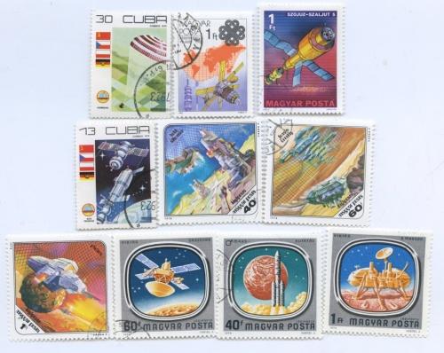 Набор почтовых марок (Венгрия, Куба)