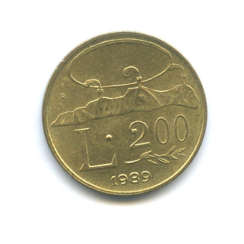 200 лир - Шестнадцать веков истории 1989 года (Сан-Марино)