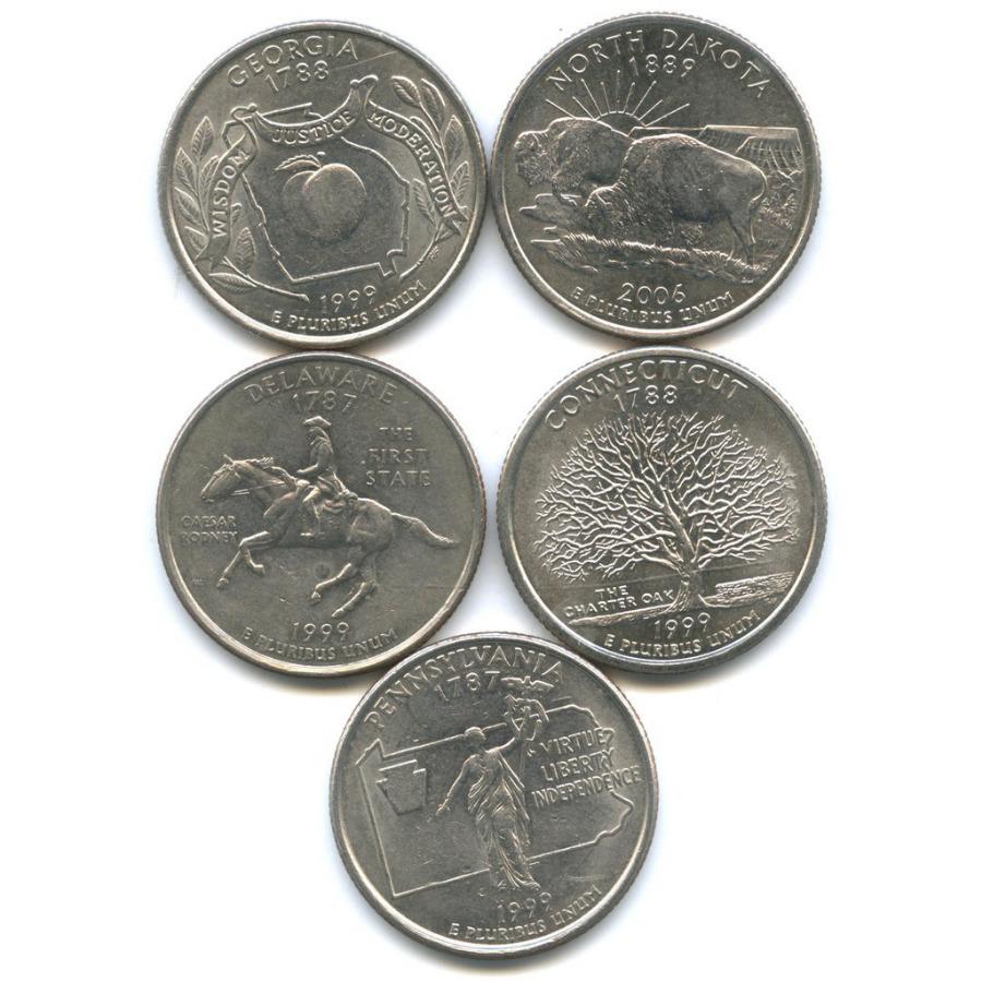 Набор монет 25 центов (квотер) - Штаты итерритории 1999, 2006 (США)