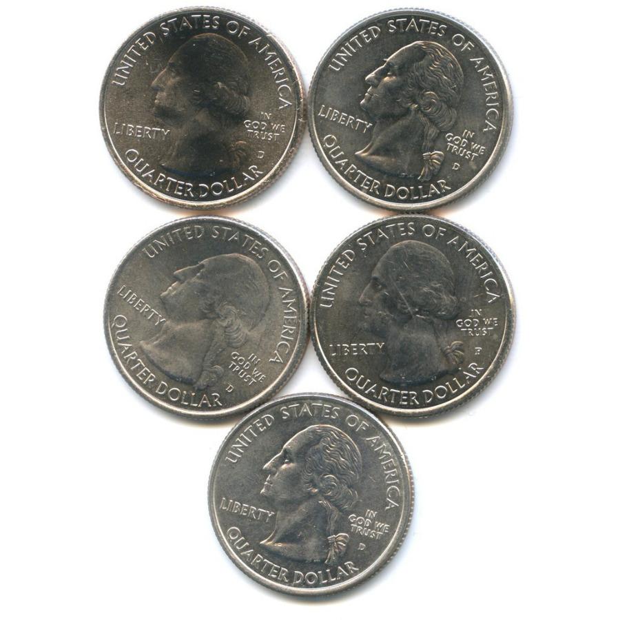 Набор монет 25 центов (квотер) - Штаты ипарки (США)