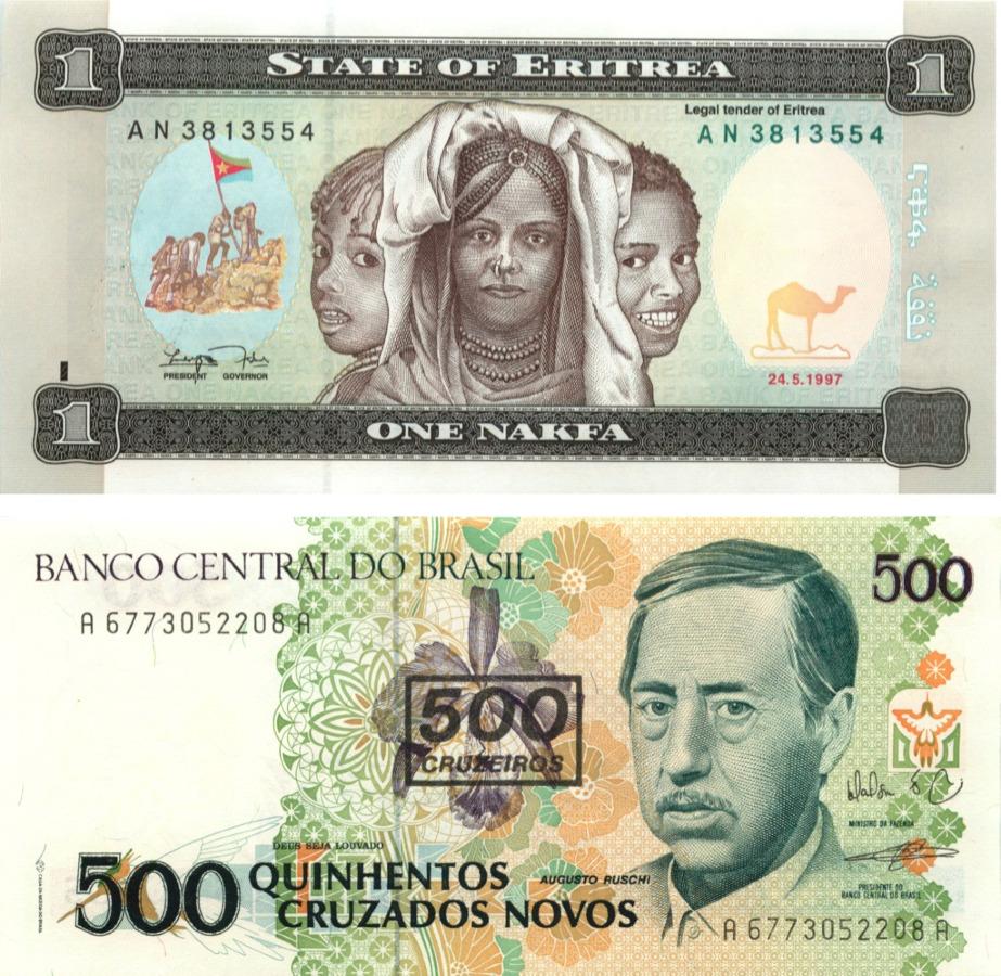 Набор банкнот (Бразилия, Эритрея)