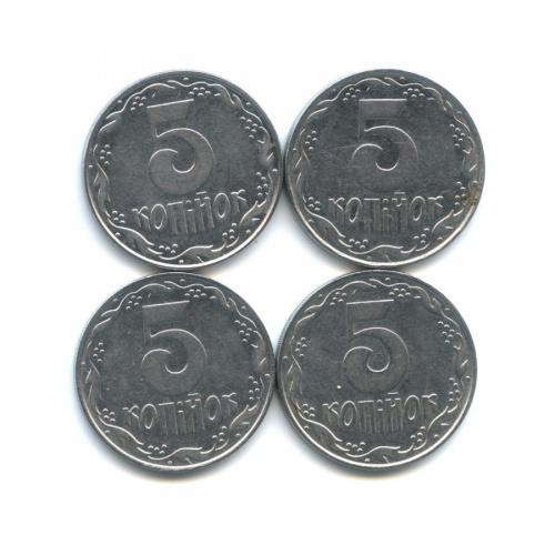Набор монет 5 копеек 1992 года (Украина)