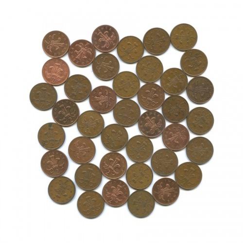 Набор монет 2 пенса (40 шт.) (Великобритания)