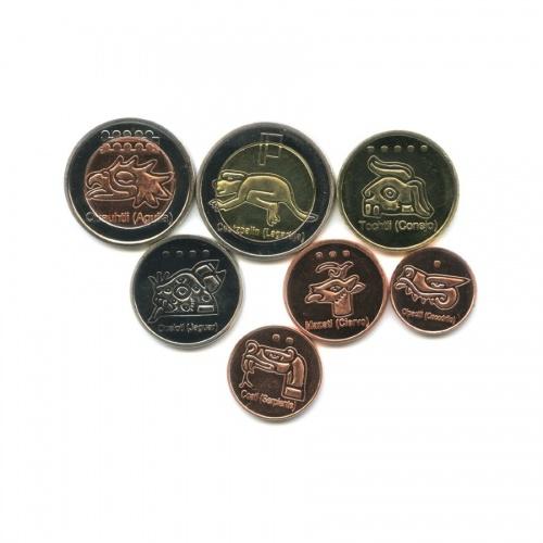 Набор монет - Мундо Ацтека, Центральная Америка 2013 года