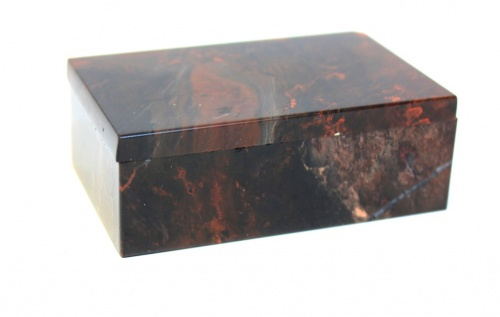 Шкатулка, натуральный камень (8×5 см) (СССР)