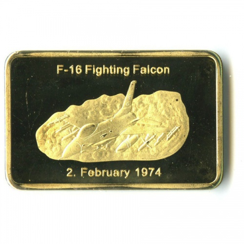 Жетон «F-1 Борющийся сокол» (вкапсуле)