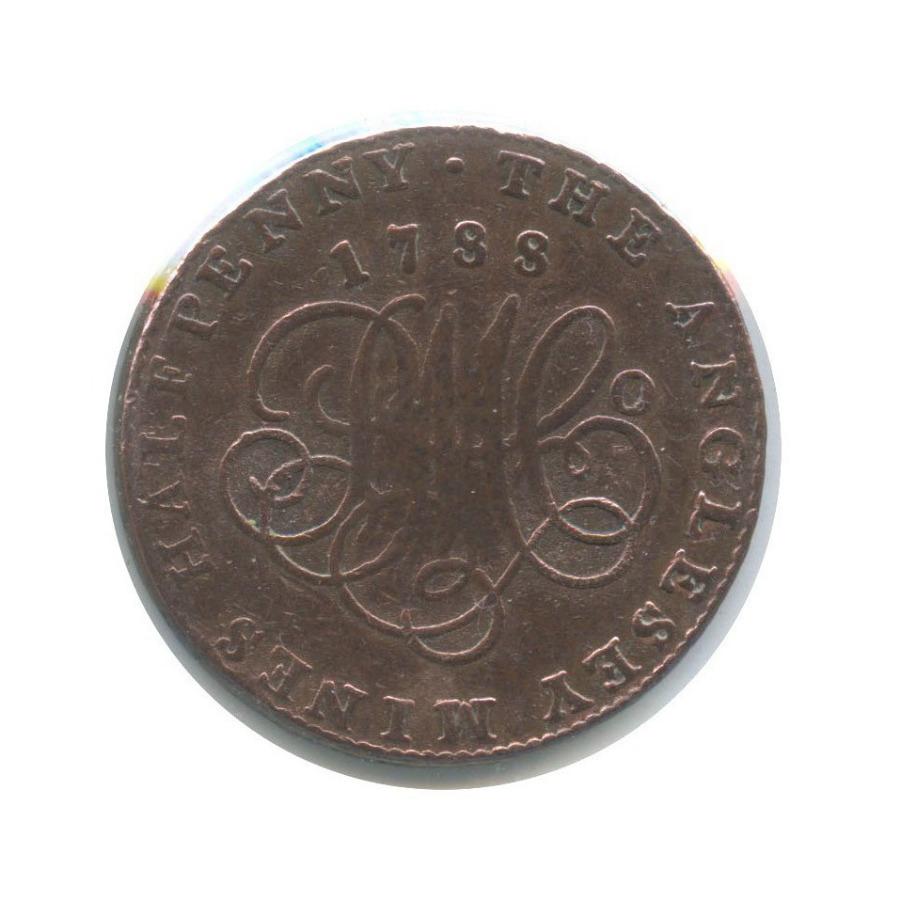 1/2 пенни, Уэльс (токен), вхолдере 1788 года (Великобритания)