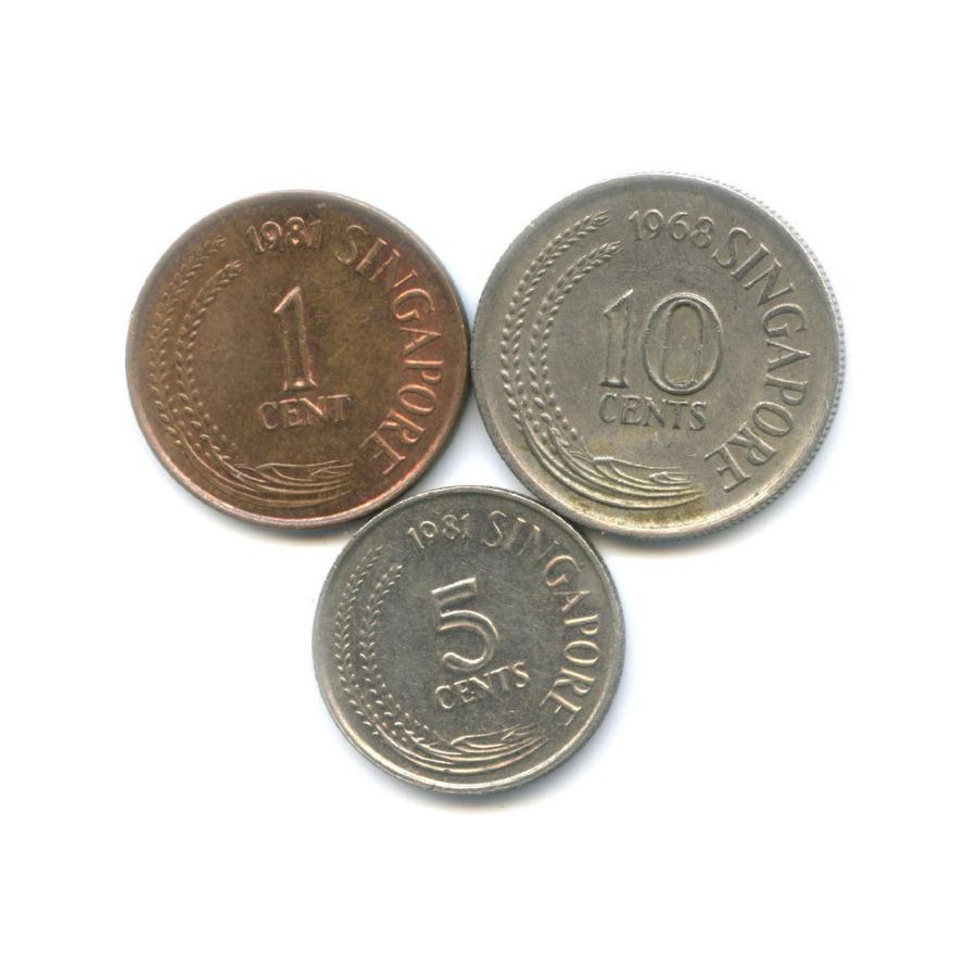 Набор монет 1968, 1981 (Сингапур)