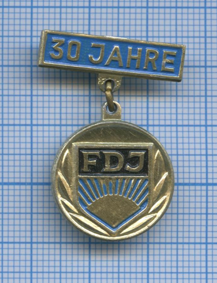 Знак «30 jahre FDJ» (Германия)