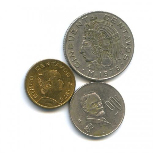Набор монет 1975, 1976 (Мексика)