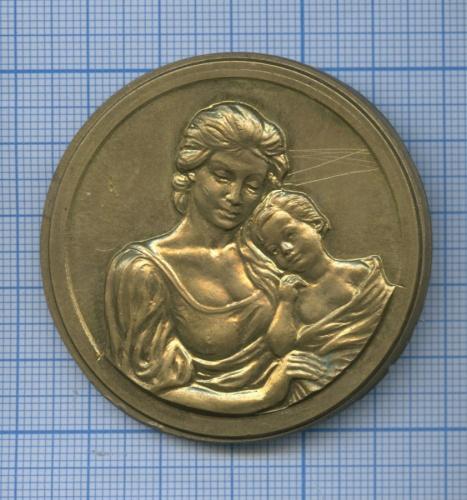 Медаль настольная «Родившемуся вгороде Сосновый бор» (Россия)