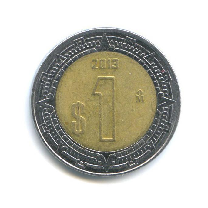 1 песо 2013 года (Мексика)