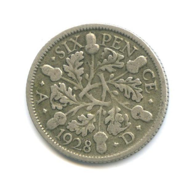 6 пенсов 1928 года (Великобритания)
