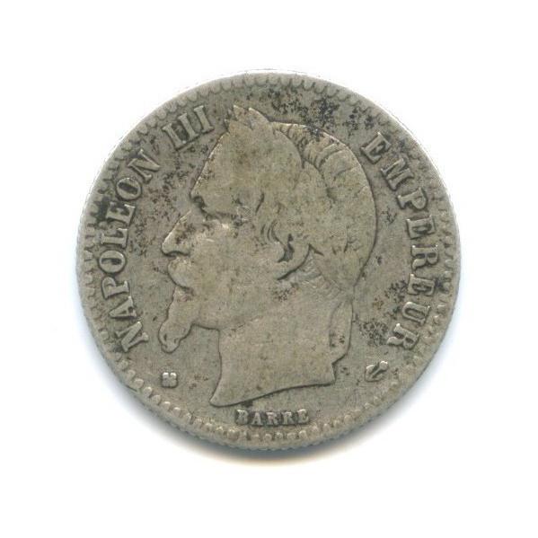 50 сантимов - Наполеон III 1867 года (Франция)