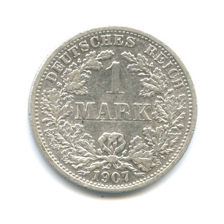 1 марка 1907 года F (Германия)