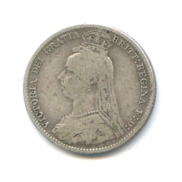 6 пенсов - Королева Виктория 1892 года (Великобритания)