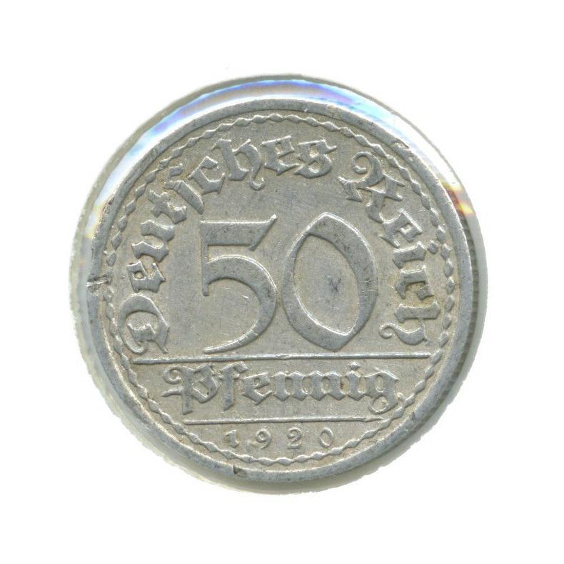 50 пфеннигов (вхолдере) 1920 года A (Германия)