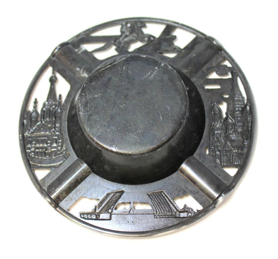 Пепельница «Виды Санкт-Петербурга», 12,5 см (Россия)