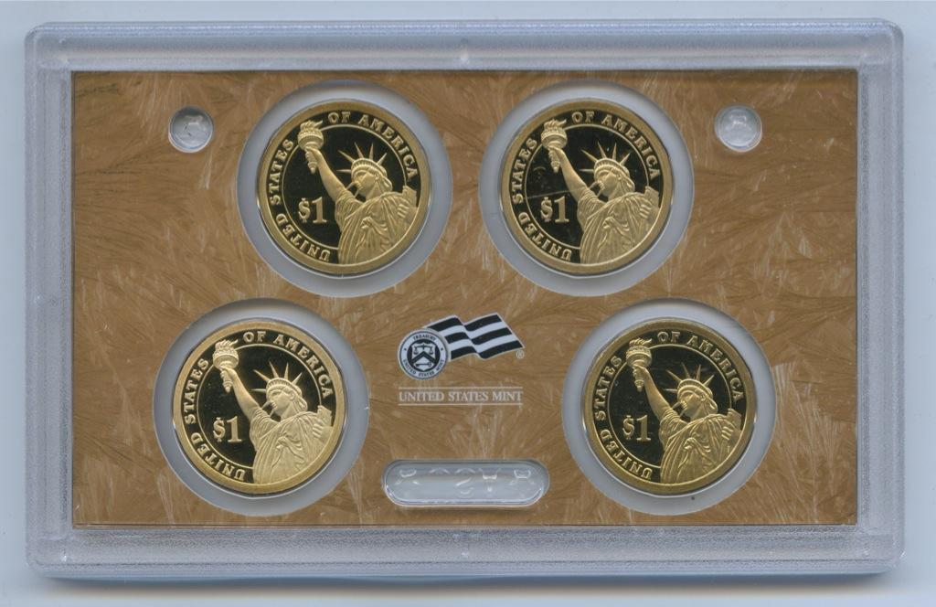 Набор монет 1 доллар - Президенты США 2009 года (США)