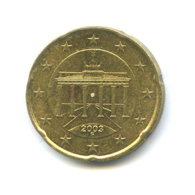 20 центов 2003 года F (Германия)