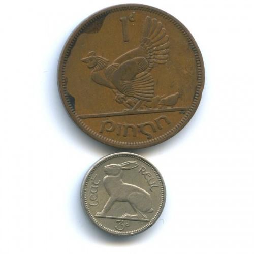 Набор монет 1950, 1953 (Ирландия)