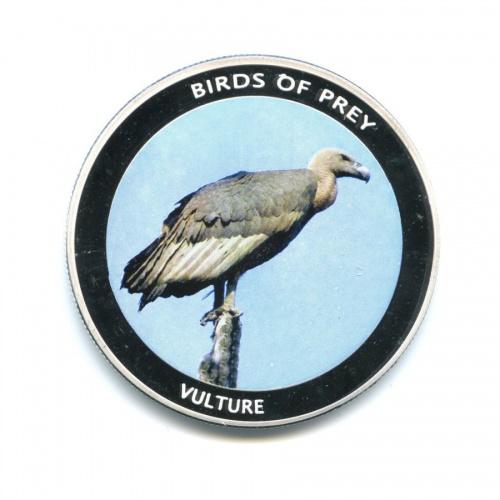 10 квача - Хищные птицы - Стервятник, Малави (серебрение, вцвете) 2010 года