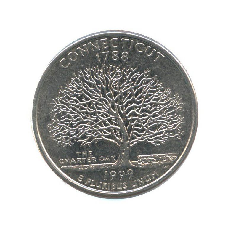 25 центов (квотер) — Квотер штата Коннектикут 1999 года P (США)