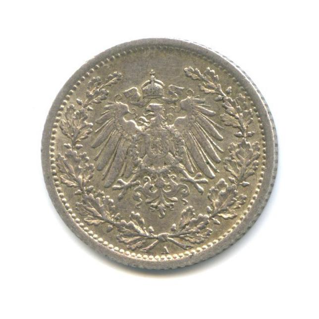 1/2 марки 1909 года А (Германия)