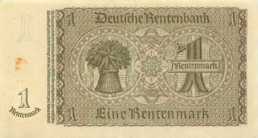 1 рентенмарок 1937 года (Германия)