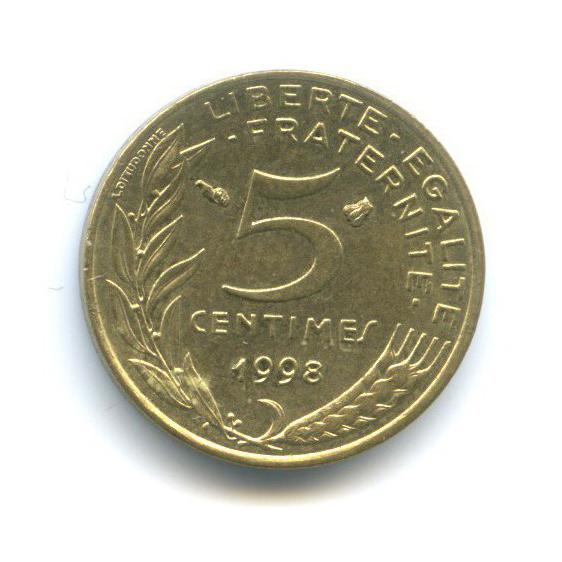 5 сантимов 1998 года (Франция)